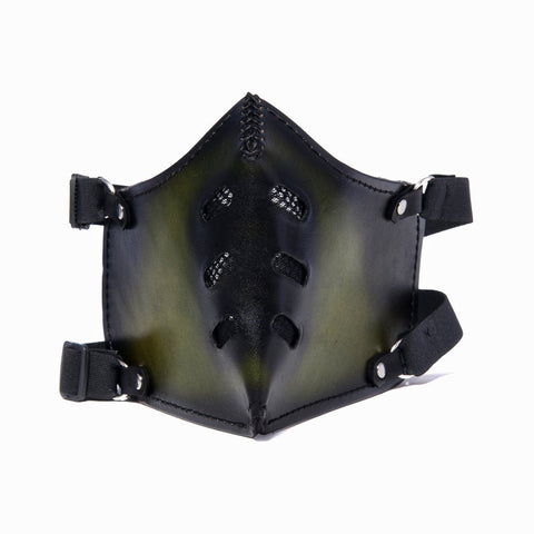 Hand Painted Vegetan Leather Bikers Mask Biker Mask The Ottoman Collection  (1912376328246)