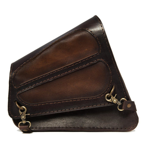 Handcrafted Vegetan Leather Motorcycle Side Bags motorcycle side bags Balance Headwear  (1914561429558)