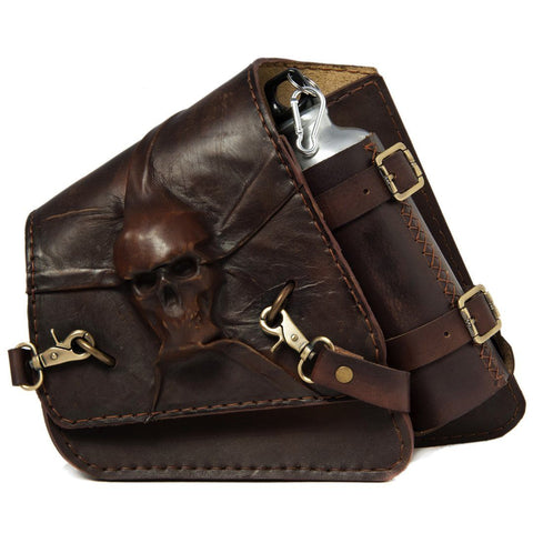 Handcrafted Vegetan Leather Motorcycle Side Bags motorcycle side bags Balance Headwear  (1914561331254)