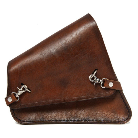Handcrafted Vegetan Leather Motorcycle Side Bags motorcycle side bags Balance Headwear  (1914561265718)