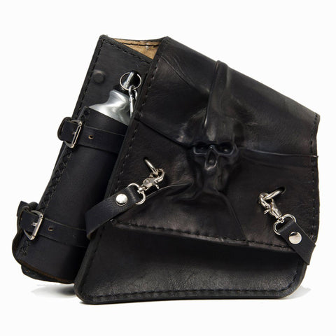 Handcrafted Vegetan Leather Motorcycle Side Bags motorcycle side bags Balance Headwear  (1914561069110)