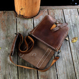 Handcrafted Leather Postman Shoulder Bag Biz Levanten  (1930683547702)