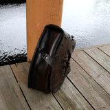 Handcrafted Leather Motorcycle Solo Saddle Bag motorcycle side bags Balance Headwear  (1927928315958)