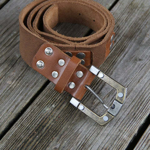Handmade Leather 38 inch Belt Leather Belt Biz Levanten  (1929900032054)
