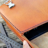 Handcrafted Vegetan Leather Motorcycle Side Bags (4443379171382)