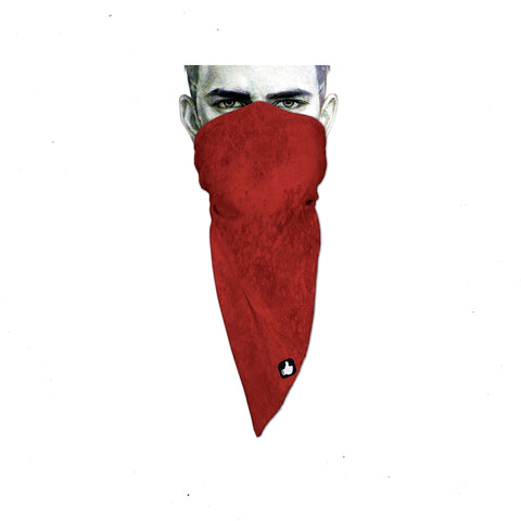 Unique Neck Gaiter - Triangle Face Mask - Abstract Red - Red Face Mask - Protective Face Cover - Biker Bandana - Design Scarf