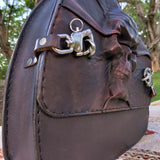 Handcrafted Vegetan Leather Motorcycle Side Bags