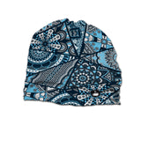 Tria Blue Beanie High Quality 100% Microfiber Perfect Fit One Size for all