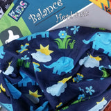 Kids Neck Gaiter - Face Mask - Elephants Kids Bandana - Blue Bandana - Neck Gaiter - Headscarves - Mask For Kids