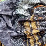 Indian Skull Bandana Classic - Seamless Tube - Neck Gaiter - Face Mask - Scarf - Quality Bandana