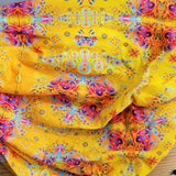 Psychedelic Yellow Coolmax Active Bandana - Yellow Bandana - Rich Designs - Colorful Neck Gaiter - Cool Scarf