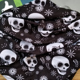 Skull Black Microfiber Beanie High Quality 100% Microfiber Perfect Fit One Size for all