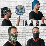 Badges Camo Bandana Classic - Seamless Tube - Neck Gaiter - Face Mask - Scarf - Quality Bandana