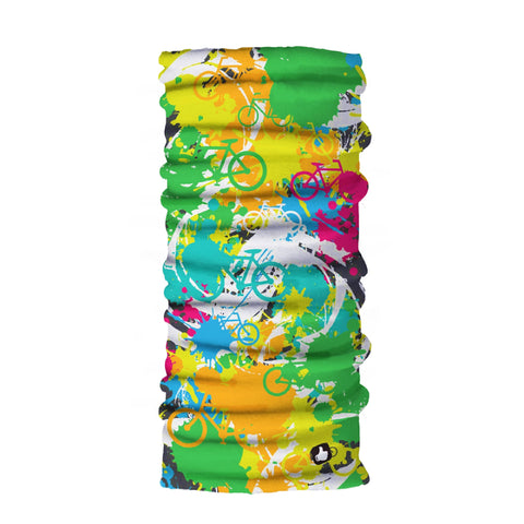 Bicycle Splash Bandana Classic - Seamless Tube - Neck Gaiter - Face Mask - Scarf - Quality Bandana