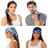 Abstract Blue Coolmax Active Bandana - Protective Face Shield - High Quality Bandana - Colorful Neck Gaiter - Buff - Beautiful Scarf
