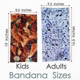 Abstract Blue Kids Bandana - Blue Bandana - High Quality Bandana - Colorful Neck Gaiter - Beautiful Scarf