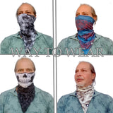 Crowd Triangle Bandana - Protective Face Cover - Biker Bandana - Unique Neck Gaiter - Design Scarf