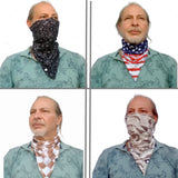 Scotch Green Triangle Bandana - Handmade Face Mask - Rich Designs - Protective Neck Gaiter - Cool Scarf
