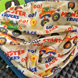 Kids Neck Gaiter - Face Mask - Monster Trucks Kids Bandana - Gray Bandana - Neck Gaiter - Headscarves - Mask For Kids