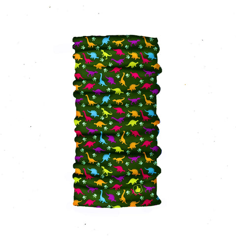 Kids Neck Gaiter - Face Mask - Dinosaurs Kids Bandana - Green Bandana - Neck Gaiter - Headscarves - Mask For Kids