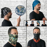 Neck Gaiter - Face Mask - Coolmax Bandana - Bonfire - Blue Bandana - Sports Bandana - Running Neck Gaiter - Gaiter Scarf