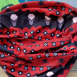 Twisted Bandana Classic - Red Bandana - Head Scarves - Hair Bandana - Neck Gaiter - Hair Scarf - Bandanna