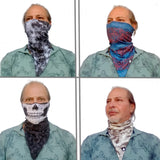 Skull Black Triangle Bandana - Handmade Face Mask - Rich Designs - Protective Neck Gaiter - Cool Scarf