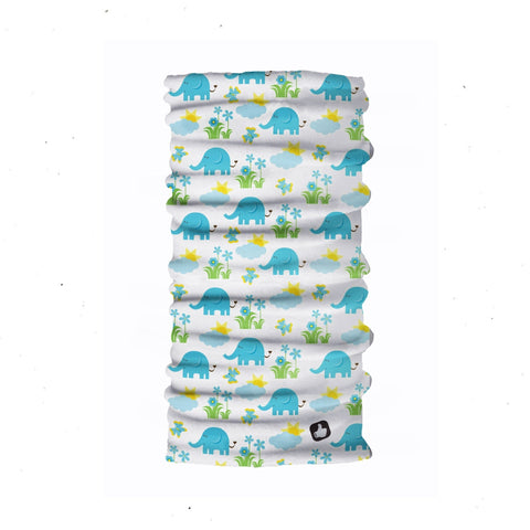 Kids Neck Gaiter - Face Mask - Elephants White Kids Bandana - White Bandana - Neck Gaiter - Headscarves - Mask For Kids