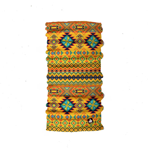 Kids Neck Gaiter - Face Mask - Ethnic Yellow Kids Bandana - Yellow Bandana - Neck Gaiter - Headscarves - Mask For Kids