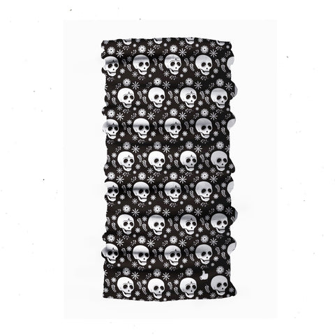 Kids Neck Gaiter - Face Mask - Skull Black Kids Bandana - Black Bandana - Neck Gaiter - Headscarves - Mask For Kids
