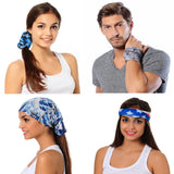 Grunge Blue Bandana - Seamless Tube -Neck Gaiter - Face Mask - Scarf - Quality Bandana
