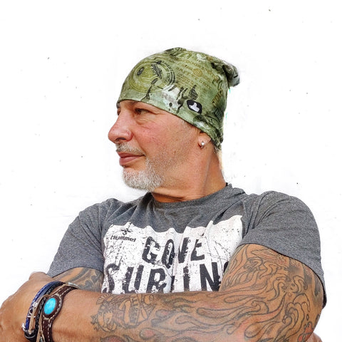 Badges Camo Microfiber Beanie High Quality 100% Microfiber Perfect Fit One Size for all