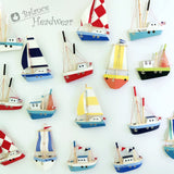 Wooden Ship Refrigerator Magnets - Handcrafted - Fishing Boat - Sail Ships