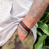 Handcrafted Brown leather Bracelet -  Fashion Jewelery