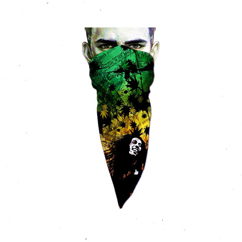 Unique Neck Gaiter - Triangle Face Mask - Marley - Green Face Mask - Biker Bandana - Design Scarf