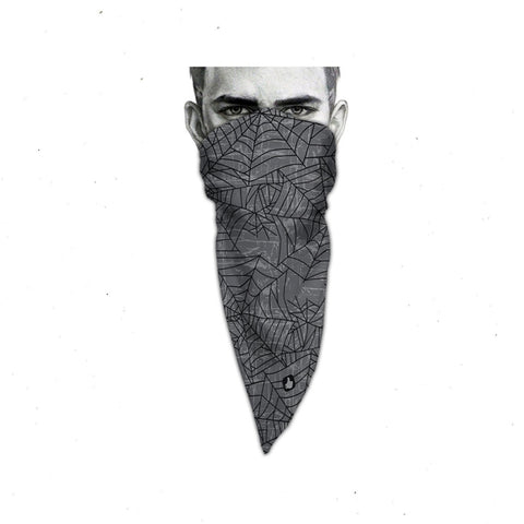 Unique Neck Gaiter - Triangle Face Mask - Web - White Face Mask - Face Cover - Gift Biker Bandana