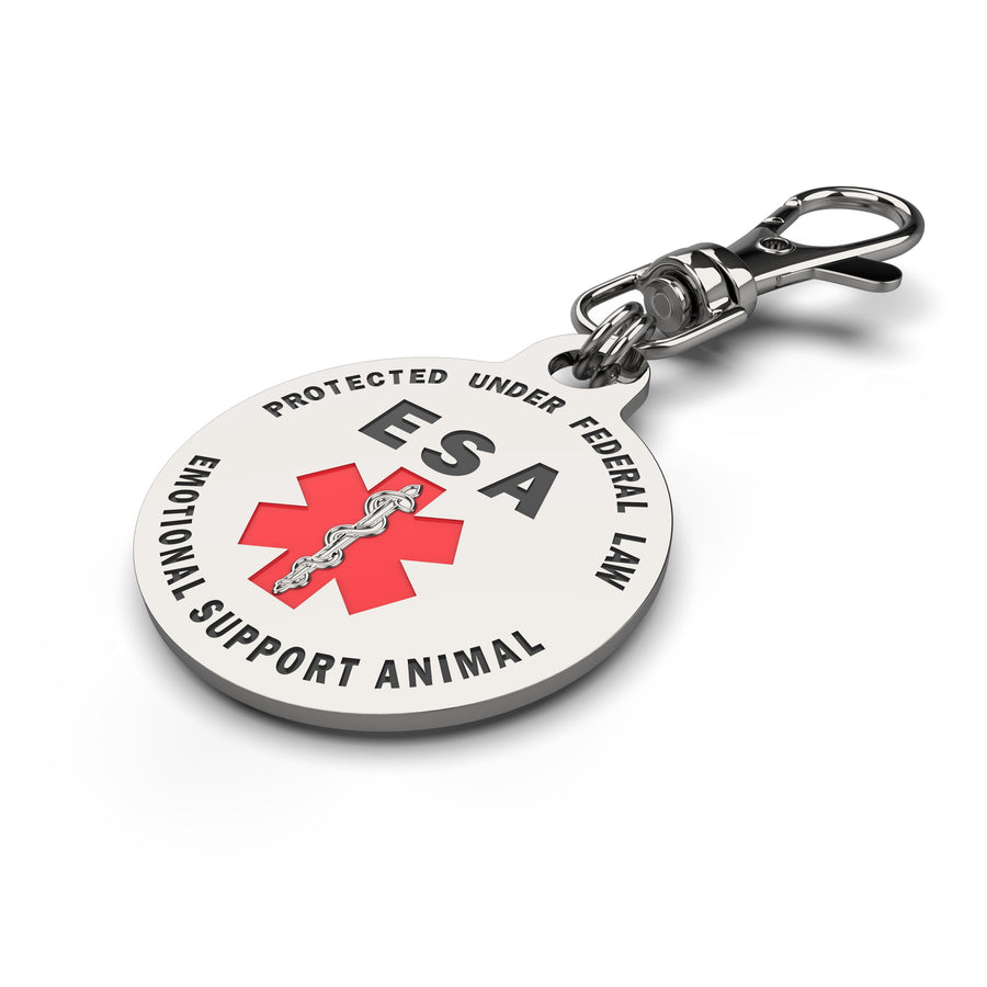 ESA Emotional Support Animal Patch (2) and ESA Tag Combo. Perfect for Harness, collars and Service animal Vest - K9King