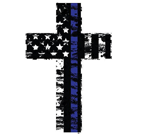 K9King Thin Blue Line Cross Reflective (2) Pack. Show Your Support for Our Men and Women of Law Enforcement - K9King