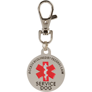 Double Sided Service Dog ACCESS REQUIRED Federal Protection Tag. Easily attach to Collar Harness Vest
