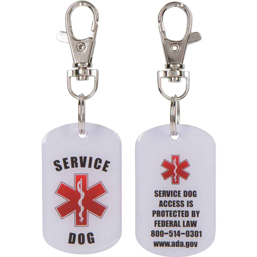 SERVICE DOG ID Tags 2 pack COMBO Bright Double Sided - K9King