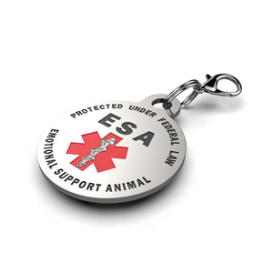 Double Sided Small Breed Emotional Support Animal (ESA) Tag. - K9King