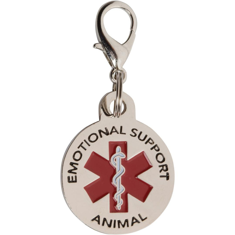 Emotional Support Animal Tag ESA Tags for Small Dogs. Red Medical Alert Symbol - K9King
