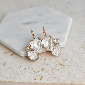 VOWS BRIDAL CHARMAINE EARRING ROSE GOLD
