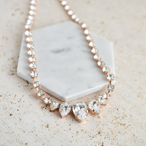 VOWS BRIDAL CHARMAINE NECKLACE ROSE GOLD
