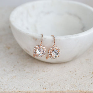 VOWS BRIDAL HADLEY EARRING ROSE GOLD