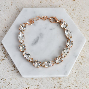 VOWS BRIDAL LEONA BRACELET ROSE GOLD
