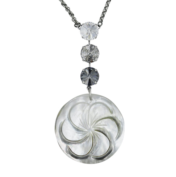 MYRA MOTHER OF PEARL PENDANT NECKLACE