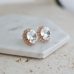 VOWS BRIDAL SERENA EARRING ROSE GOLD