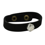SYDNEY BLACK LEATHER ACCENT BRACELET