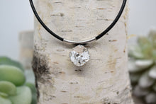Load image into Gallery viewer, TESSA CUSHION CUT LEATHER NECKLACE